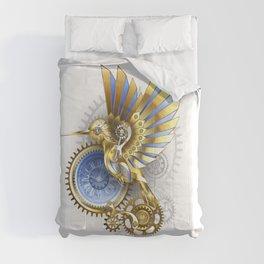 Steampunk hummingbird Comforters