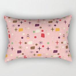 Atomic Pattern Pink Purple  #midcenturymodern Rectangular Pillow