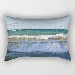 Huron Waves Rectangular Pillow