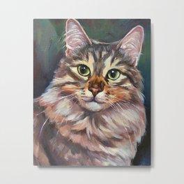 The tame cat Metal Print