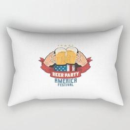 Beer Party Oktoberfest Artowork Rectangular Pillow