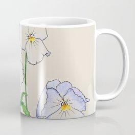 Botanical illustration of violets Coffee Mug