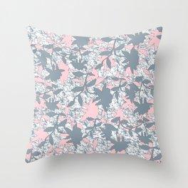 """Vintage Flower Power"" Throw Pillow"