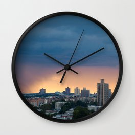 Sunset Rain Storm Wall Clock