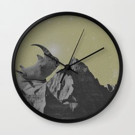 Rhino Mountain Wall Clock