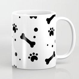 Dog's paw print and bone seamless pattern Coffee Mug