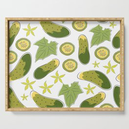 Cucumbers Serving Tray