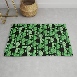 Turtle Pattern (Black and green) Rug