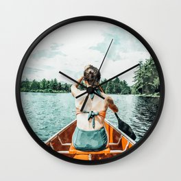 Row Your Own Boat #illustration #decor #painting Wall Clock