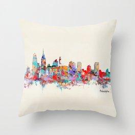 Philadelphia Pennsylvania skyline Throw Pillow