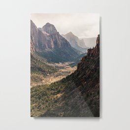 Evening West Rim Trail Views, Zion National Park Metal Print