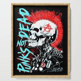 Punks Not Dead Serving Tray