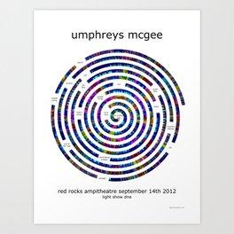 Umphrey's McGee Red Rocks 2012 Spiral Art Art Print