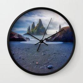 Reynisfjara Beach, Iceland Wall Clock