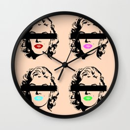 Censored Marilyn Wall Clock