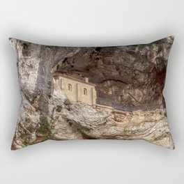 The Holy Cave of Covadonga Rectangular Pillow