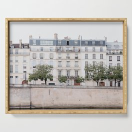 Seine River - Paris France, Architecture, Travel Photography Serving Tray