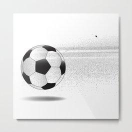 Moving Football Metal Print