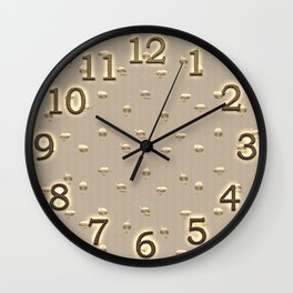Gold Leaf Pattern Wall Clock