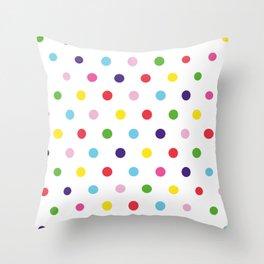Polka dot colors Throw Pillow