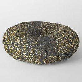 Black Gold Snake Skin Floor Pillow