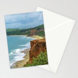 Aerial Landscape Scene Pipa Beach, Brazil Stationery Cards