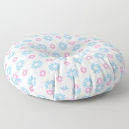 From a true flower 1 blue and pink Floor Pillow