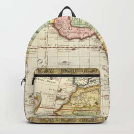 Vintage Map Print - 1732 map of Africa by Guillaume Danet Backpack