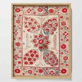 Bokhara Suzani Southwest Uzbekistan Embroidery Serving Tray