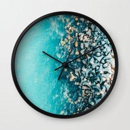 Abstract Turquoise Ocean, Aerial Blue Sea Print, Large Ocean Poster, Coastal Wall Art, Beach Decor Wall Clock
