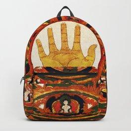 Buddhist Hindu Healing Hand Mandala Backpack
