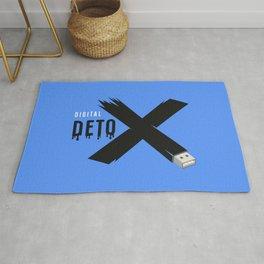 Digital detox letter x Rug