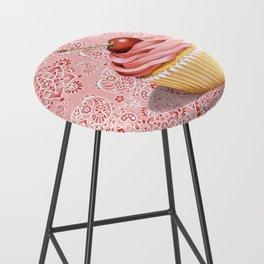 Pink Cupcake Paisley Bandana Bar Stool