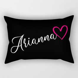 Arianna Name Calligraphy Heart Rectangular Pillow