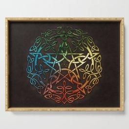 Elemental Celtic Pentacle Pentagram Serving Tray