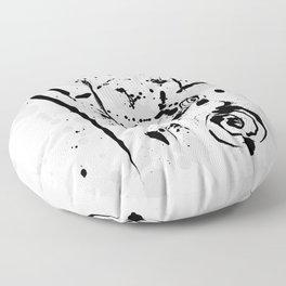Minimalist Modern Abstract Ink Splatter Floor Pillow