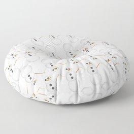 Yarn Snowman Floor Pillow