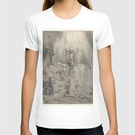 """Rembrandt - Christ Crucified Between the Two Thieves (""""The Three Crosses"""") (1653) T-shirt"""