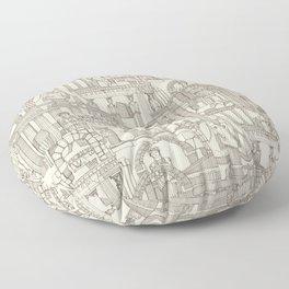 Ancient Greece natural Floor Pillow