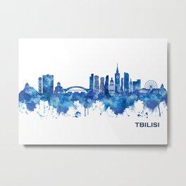Tbilisi Georgia Skyline Blue Metal Print