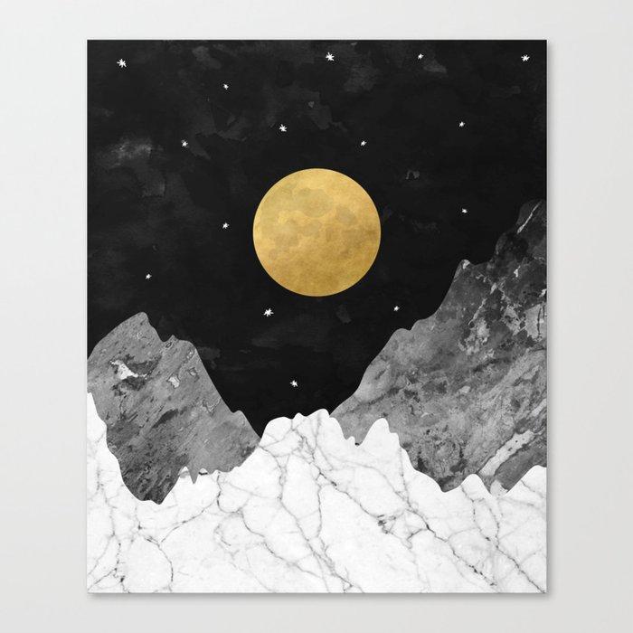 Moon and Stars Leinwanddruck