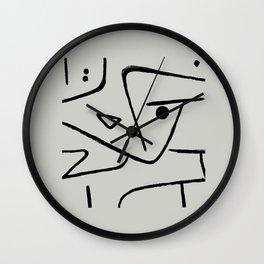 Modern poster Paul Klee - Zweierlei Augenmass, 1938. Wall Clock