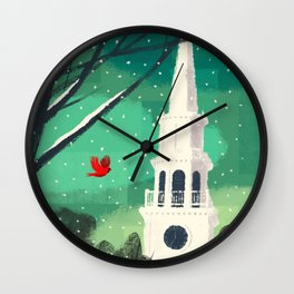 Christmas Holiday Winter Wall Clock