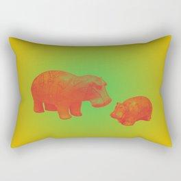 WILLIAM THE HIPPO IV Rectangular Pillow