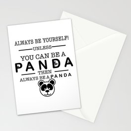 Always be Panda Stationery Cards