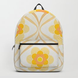 Retro 70s Yellow Floral Backpack