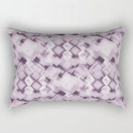 Square Pastel Dusky Pink Pattern Rectangular Pillow
