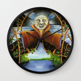 A Ledges Moon Wall Clock