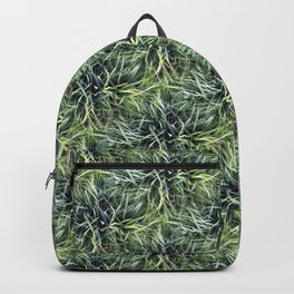 Trendy Grass Pattern  in Vivid Shades of Green Backpack