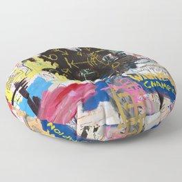 Portrait of Basquiat Floor Pillow